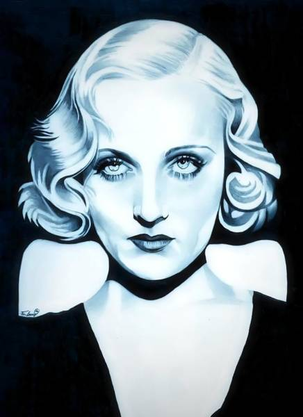 Orchid Drawing - Classic Carole Lombard by Fred Larucci
