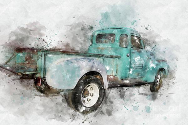 Mixed Media - Classic Chevrolet 3800 Truck by Teresa Zieba
