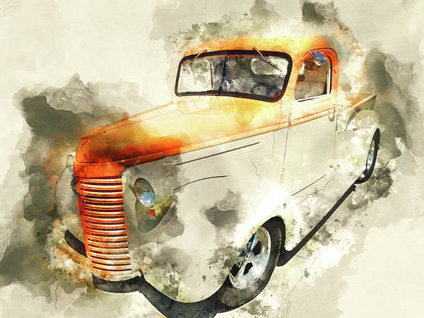 Wall Art - Mixed Media - Classic Chevrolet Pickup Truck by Kevin O'Hare