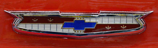 Wall Art - Photograph - Classic Chevy Emblem by Bill And Deb Hayes