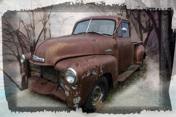 Wall Art - Photograph - Classic Chevy Pickup Truck In A Cool Frame by Debra and Dave Vanderlaan