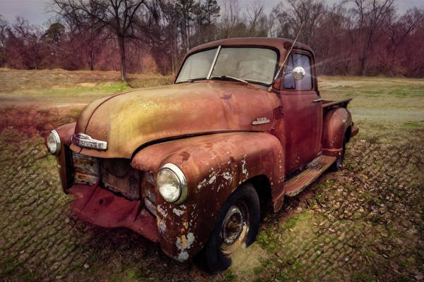 Wall Art - Photograph - Classic Chevy Pickup Truck In Country Sunshine by Debra and Dave Vanderlaan