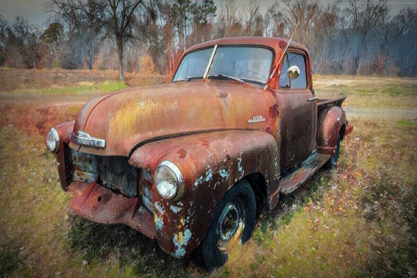 Gainesville Photograph - Classic Chevy Pickup Truck Painting by Debra and Dave Vanderlaan