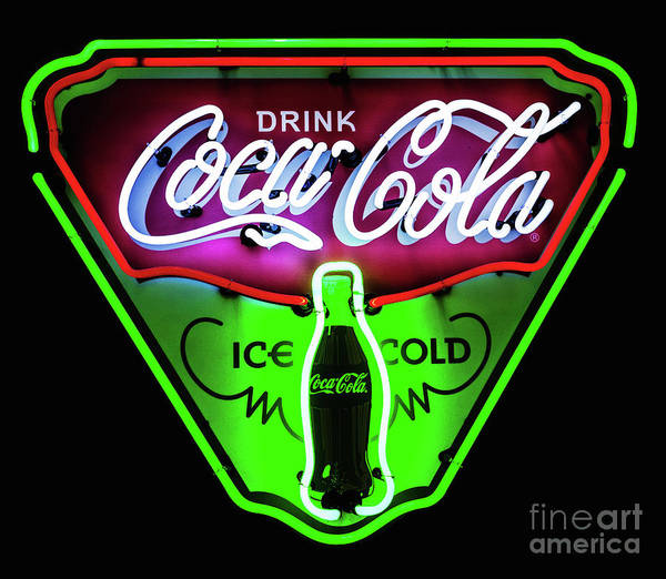 Photograph - Classic Coca-cola Neon Sign by Miles Whittingham