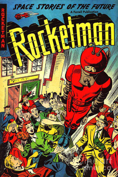 Comic Book Photograph - Classic Comic Book Cover Rocketman June by Wingsdomain Art and Photography