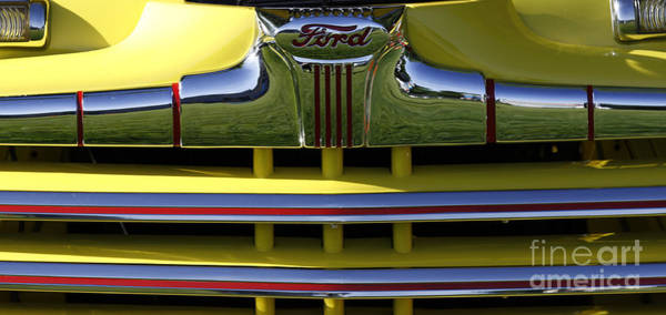 Photograph - Classic Ford Chrome Grill by Richard Lynch