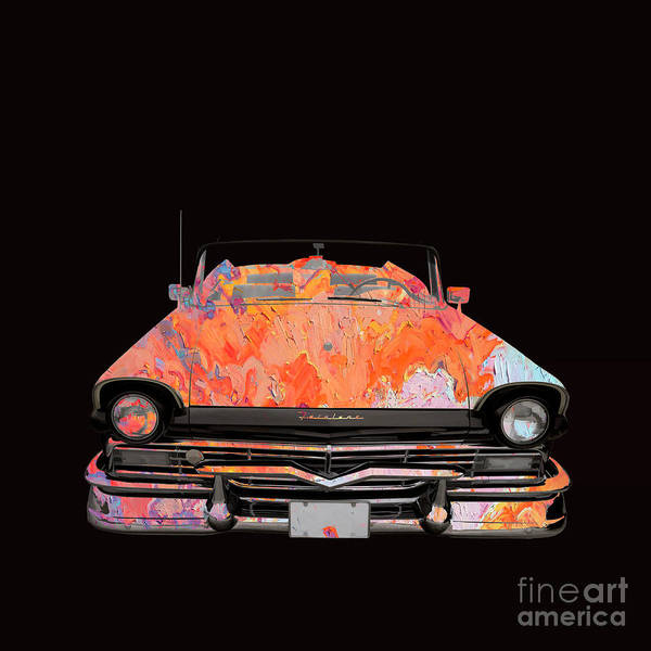Wall Art - Photograph - Classic Ford Fairlane Convertible Painted by Edward Fielding