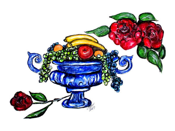 Painting - Classic Fruit Bowl Digital Enhanced by Clyde J Kell