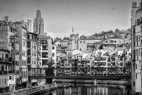 Photograph - Classic Girona View Bw by Joan Carroll