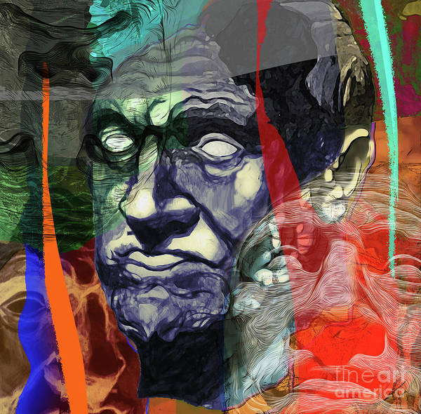 Photograph - Classic Greek Bust In Contemporary Style by Gregory Dyer