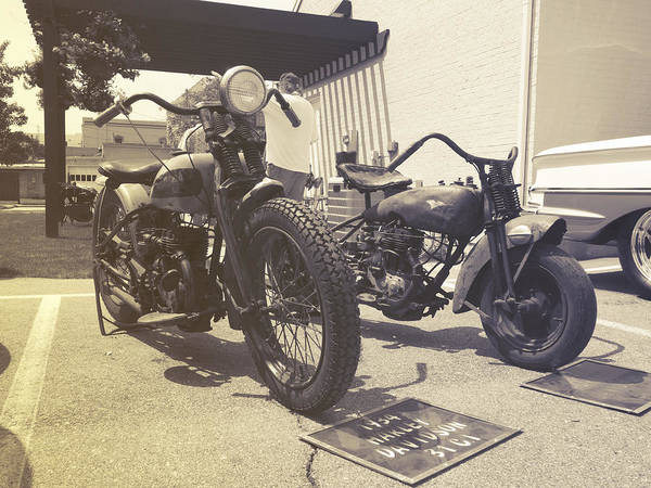 Photograph - Classic Harleys by Michael Colgate