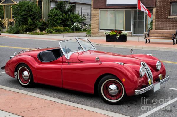 Photograph - Classic Jaguar Cabriolet by Les Palenik
