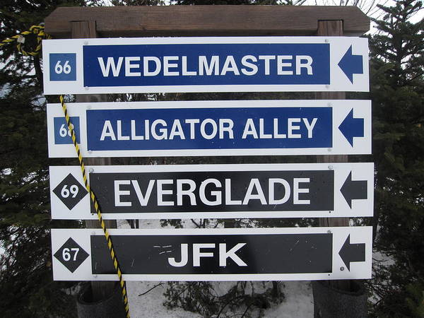 Alligator Alley Photograph - Classic Jay Peak Signs by Michael French