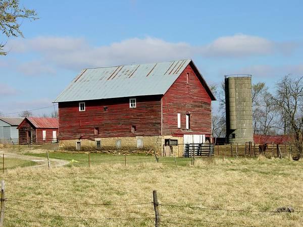 Photograph - Classic Kansas Barn by Keith Stokes
