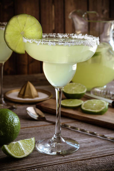 Photograph - Classic Lime Margaritas On The Rocks by Teri Virbickis