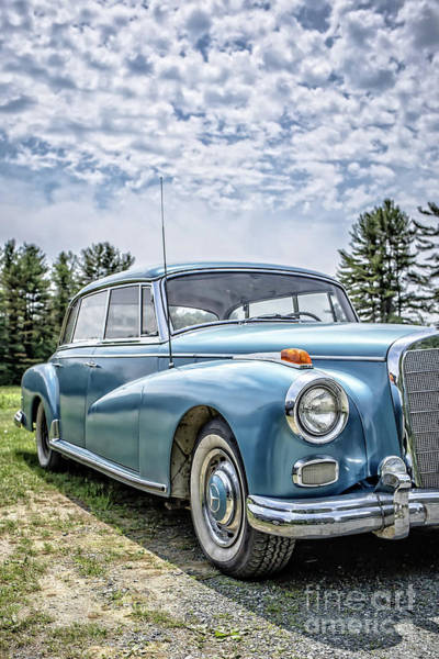 Wall Art - Photograph - Classic Mercedes Old Four Door Sedan by Edward Fielding