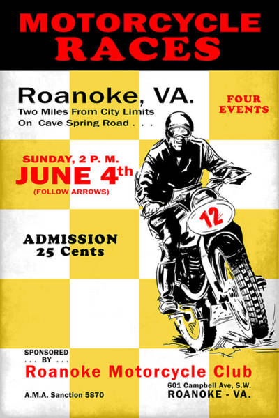 Wall Art - Photograph - Classic Motorcycle Races Roanoke Virginia by Mark Rogan