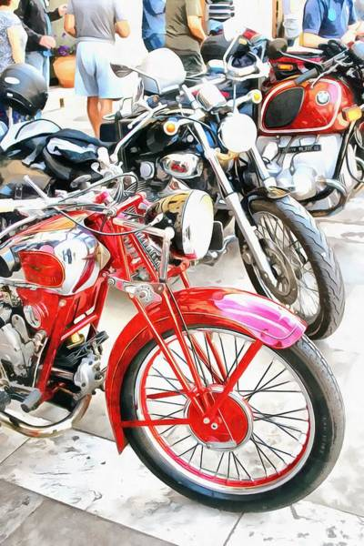 Photograph - Classic Motorcycles In A Row by Dorothy Berry-Lound