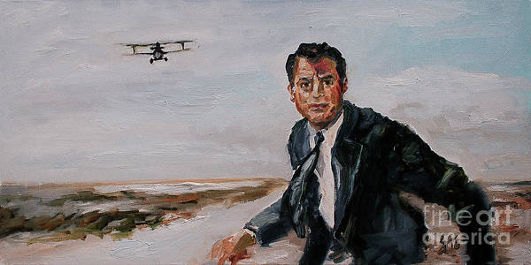 Painting - Classic Movies Cary Grant North By Northwest by Ginette Callaway