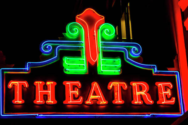 Wall Art - Photograph - Classic Neon Theatre Sign by Garry Gay