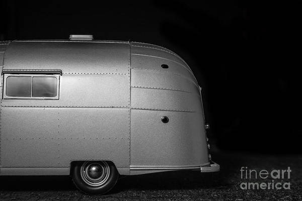 Wall Art - Photograph - Classic Old Airstream Vintage Travel Camping Trailer by Edward Fielding
