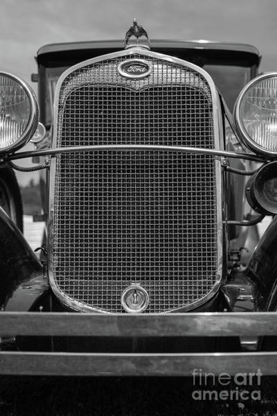 Period Wall Art - Photograph - Classic Old Ford Car Model A by Edward Fielding
