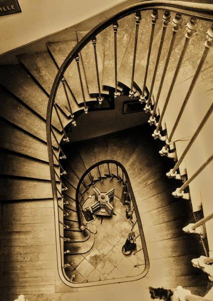 Photograph - Classic Old Staircase-france by Duncan Davies
