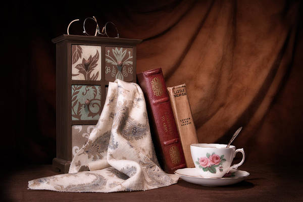 Saucer Photograph - Classic Reads Still Life by Tom Mc Nemar