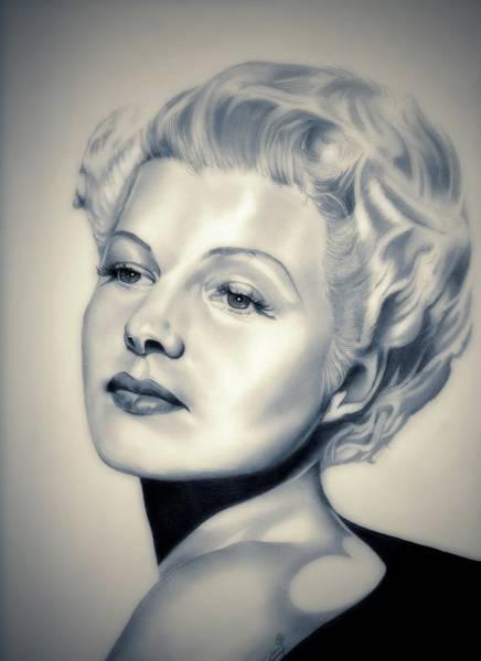 Trinidad Drawing - Classic Rita Hayworth by Fred Larucci