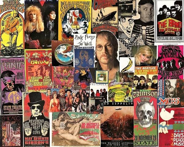 Yardbird Wall Art - Digital Art - Classic Rock 2 Collage by Doug Siegel