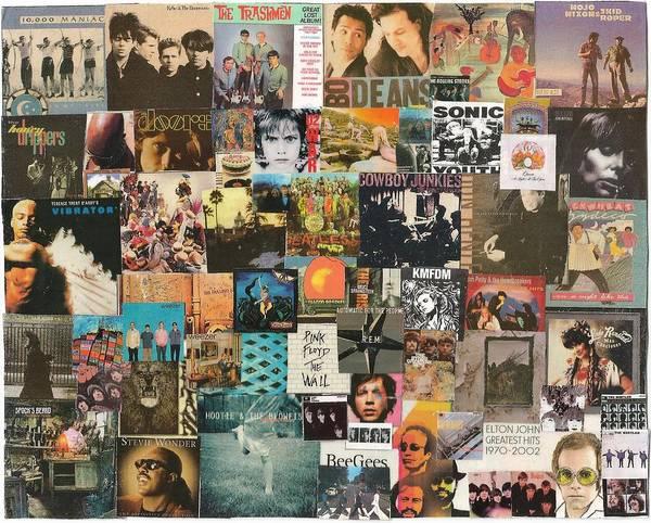 Wall Art - Digital Art - Classic Rock Lp Collage 1 by Doug Siegel