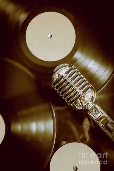 Microphone Photograph - Classic Rock N Roll by Jorgo Photography - Wall Art Gallery