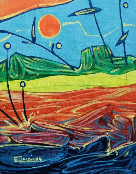 Classic Sunset At The Sea Art Print
