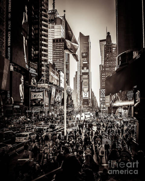 Wall Art - Photograph - Classic Time Square by Perry Webster