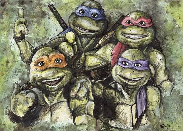 Turtle Painting - Classic Tmnt by Nate Michaels