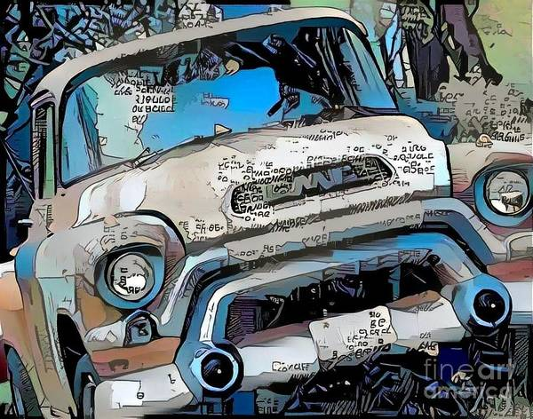 Super Car Mixed Media - Classic Truck by Douglas Sacha
