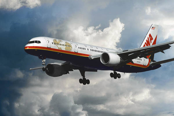 Lax Photograph - Classic Twa Boeing 757-231 by Erik Simonsen