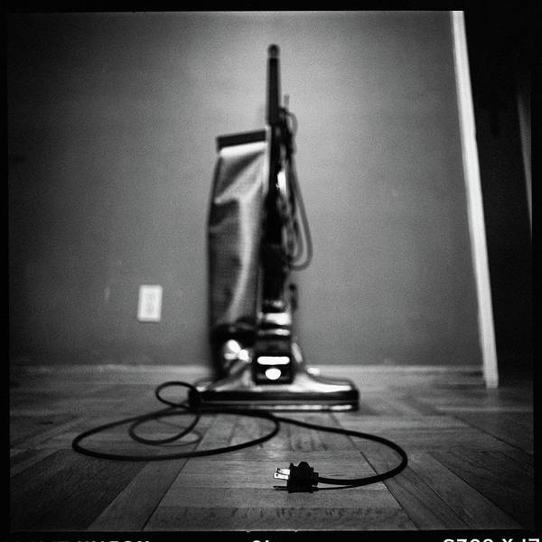 Wall Art - Photograph - Classic Vacuum And Cord In Bw by YoPedro
