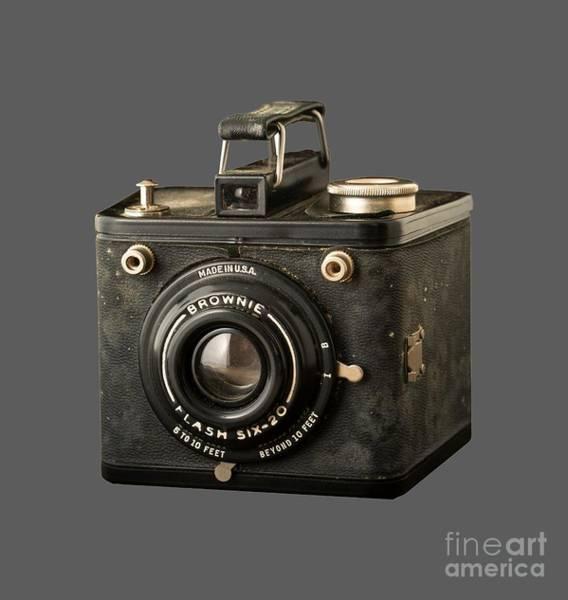Sweatshirt Wall Art - Photograph - Classic Vintage Kodak Brownie Camera Tee by Edward Fielding