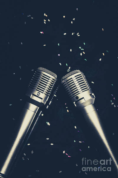 Microphone Photograph - Classical Duet by Jorgo Photography - Wall Art Gallery