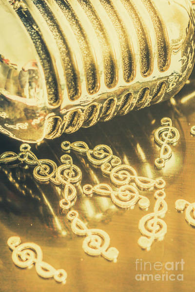 Microphone Photograph - Classical Golden Oldies by Jorgo Photography - Wall Art Gallery