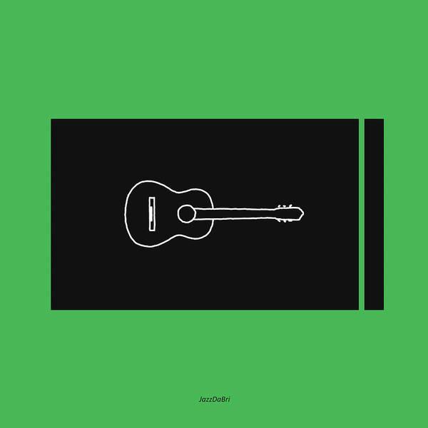 Digital Art - Classical Guitar In Green by David Bridburg