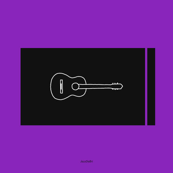 Wall Art - Digital Art - Classical Guitar In Purple by David Bridburg