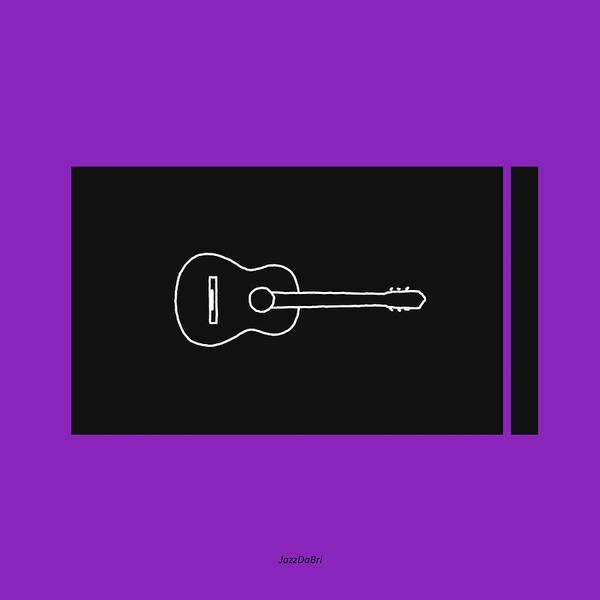 Digital Art - Classical Guitar In Purple by David Bridburg