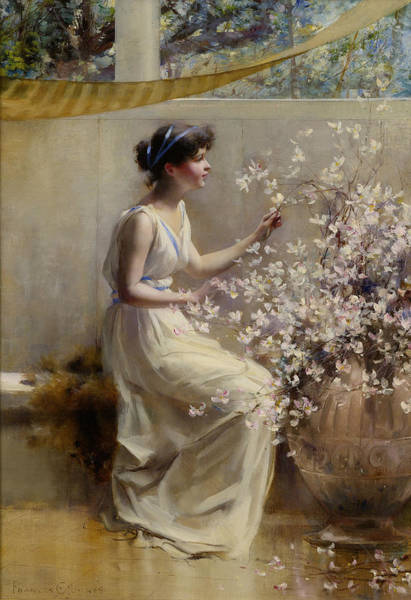 Wall Art - Painting - Classical Maiden by Francis Coates Jones