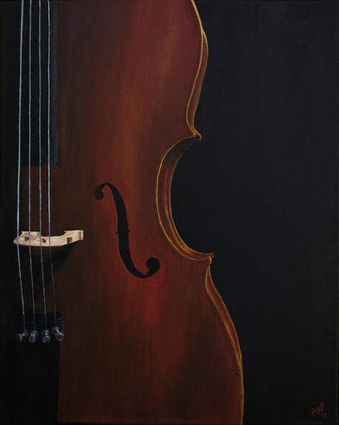 Cellist Painting - Classically by Alexis Planer