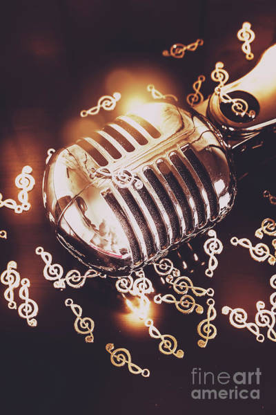 Microphone Photograph - Classics At The Audio Hall by Jorgo Photography - Wall Art Gallery