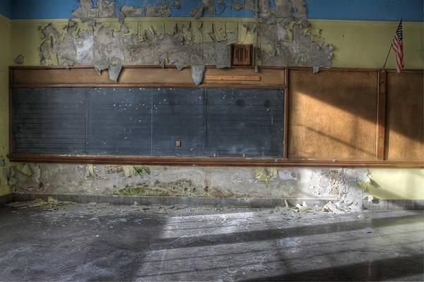 Public Speaker Photograph - Classroom Chalkboard by Jane Linders