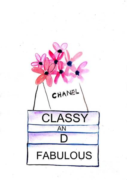 Chanel Painting - Classy And Fabulous by Sweeping Girl