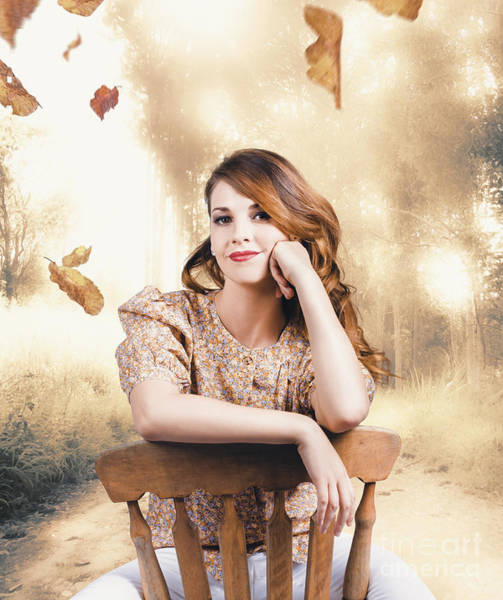 Wall Art - Photograph - Classy Girl Enjoying The Fall Of Autumn by Jorgo Photography - Wall Art Gallery